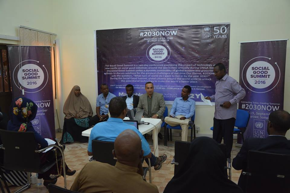 UNDP SOMALIA HOST SOCIAL GOOD SUMMIT 2016 EVENT IN GAROWE